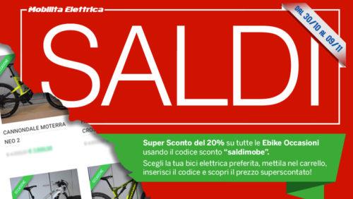 Saldi bici elettriche bologna usata ebike mobilita elettrica sconto occasione banner pagina