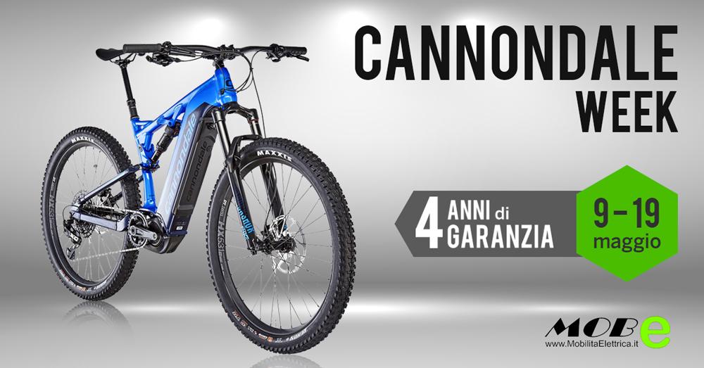 Cannondale week ebike 4 anni garanzia bici elettriche mobe