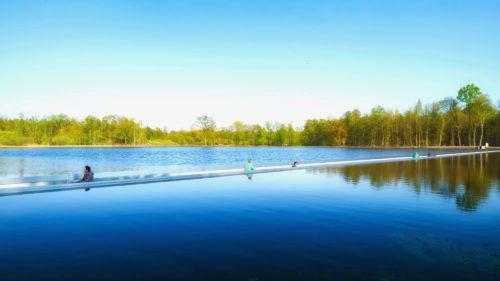 Mobe trail Cycling through Water pista ciclabile su acqua belgio 2