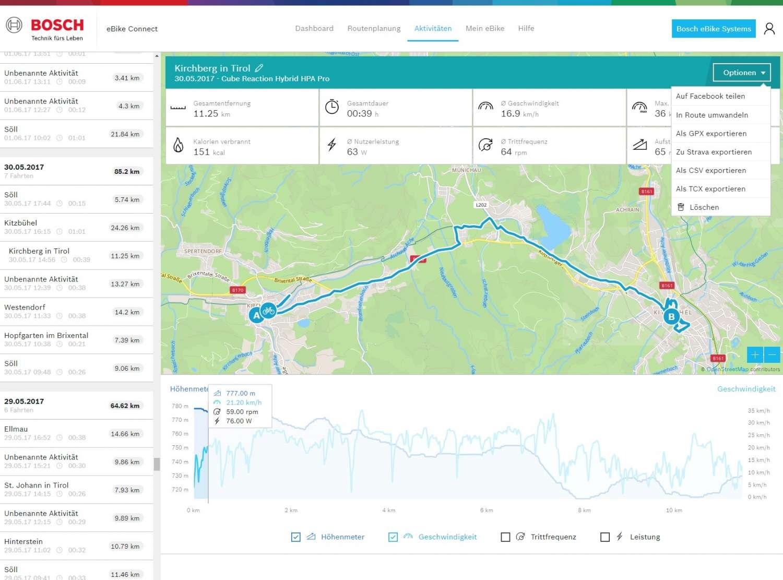 aggiornamento Bosch eBike Kiox Smartphone App Online Portale 2