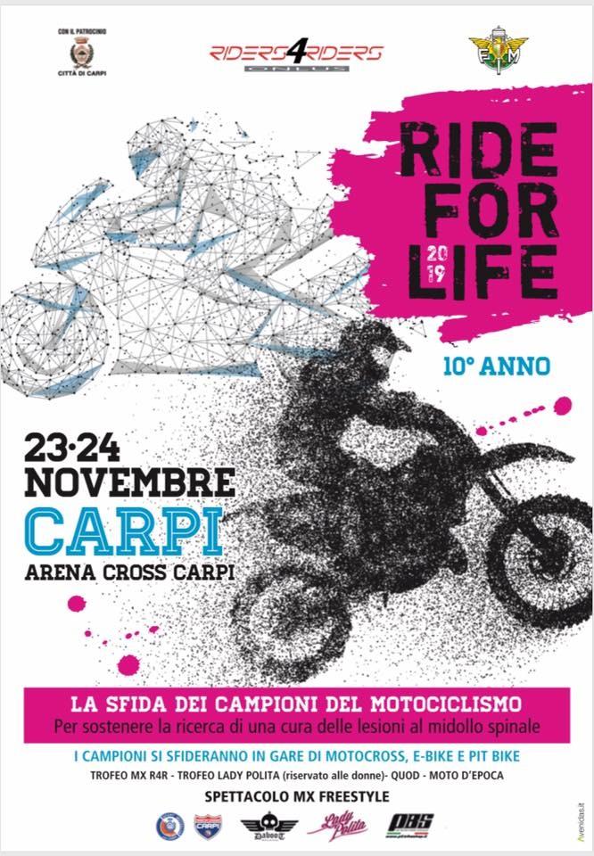 Ride for life volantino
