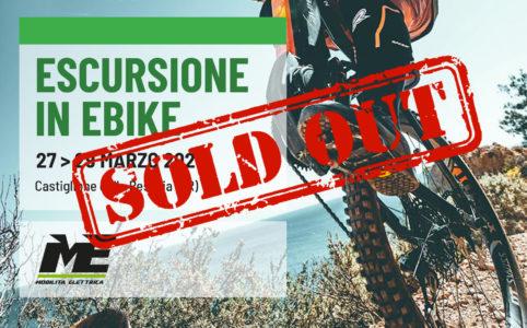 Escursione bici elettrica castiglione ebike mobilita elettrica sold out