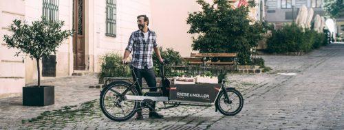 Cargo ebike riese muller bici elettrica bologna