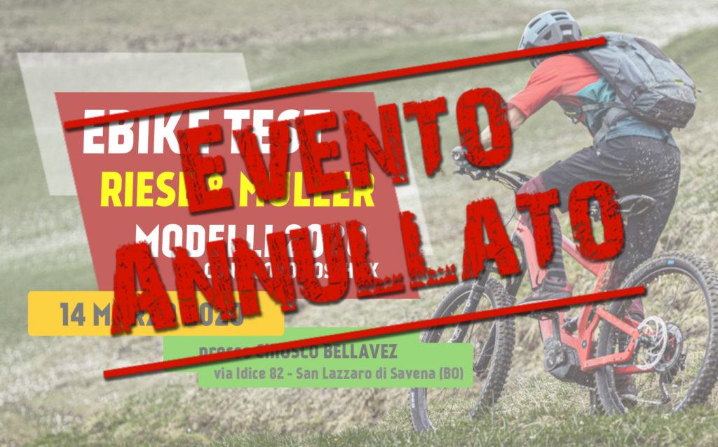 Ebike test Riese Muller 2020 annullato 14 marzo