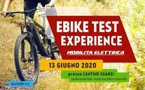 Ebike test experience 13 giugno prova bici elettriche banner