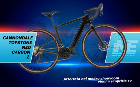 CANNONDALE topstone neo carbon 2 banner modelli 2021 showroom