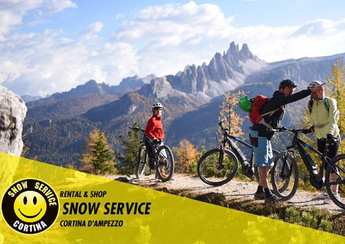 noleggio bici elettriche snow service cortina mobe