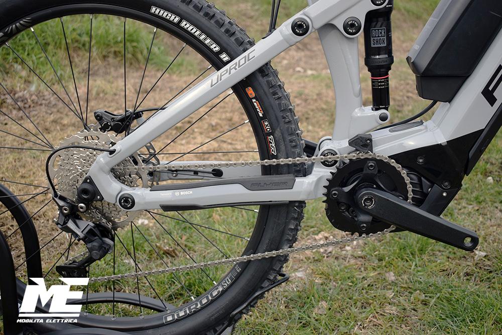 Flyer uproc3 4-10 doppia batteria tech4 ebike bosch bici elettrica bologna mobe