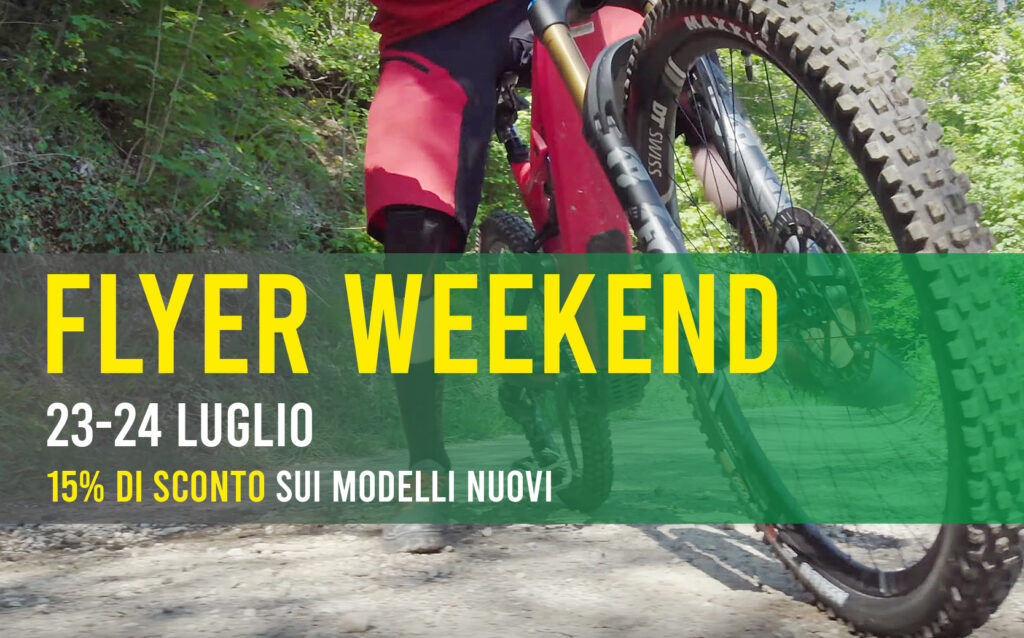flyer weekend sconto 15 bici elettriche 23 24 luglio