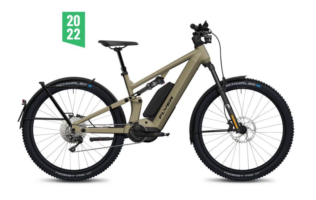 Flyer Goroc X 6-70 HS 2022 sahara doppia batteria panasonic gx ebike bici elettrica mobe